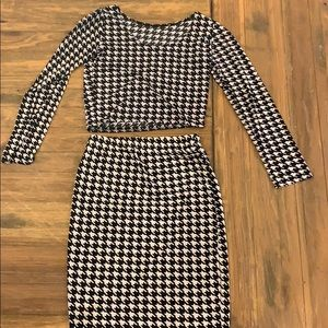 Dresses & Skirts - Houndstooth two piece set